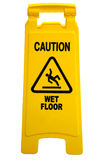 Teken van de Vloer van de voorzichtigheid het Natte Stock Foto's