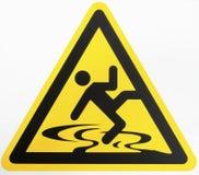 Teken van de voorzichtigheids het natte vloer Stock Afbeelding