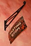 Teken van de wijnmakerij het proevende ruimte Royalty-vrije Stock Afbeelding