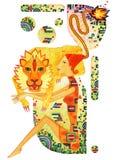 Teken van dierenriemleo royalty-vrije illustratie