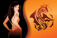 Teken van Draak 2 stock illustratie
