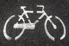 Teken van een fiets Stock Afbeelding
