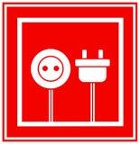 Teken van elektriciteit in frame Stock Fotografie