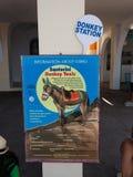 Teken van Ezelstaxis voor vervoer van de toeristen Royalty-vrije Stock Foto