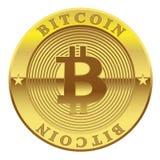 Teken van gouden die Muntstuk Bitcoin op witte achtergrond wordt geïsoleerd Conceptencryptocurrency in financiële wereld vector illustratie