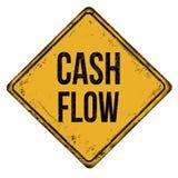 Teken van het cash flow het uitstekende roestige metaal vector illustratie