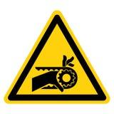 Teken van het de Aandrijvingssymbool van de hand isoleert het Verwarring Ingekerfte Riem, Vectorillustratie, op Wit Etiket Als ac royalty-vrije illustratie