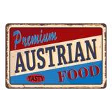 Teken van het de Antiquiteiten uitstekende roestige metaal van het Prtemium het Oostenrijkse Voedsel, vectorillustratie vector illustratie