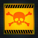 Teken van het dodelijke gevaar Stock Foto's