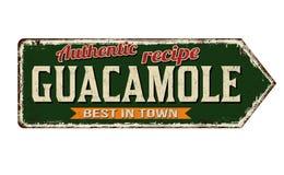 Teken van het Guacamole het uitstekende roestige metaal royalty-vrije illustratie