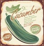 Teken van het komkommers het uitstekende metaal Royalty-vrije Stock Foto's