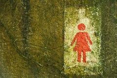 Teken van het openbare toilet van toilettenWC voor vrouwen Royalty-vrije Stock Afbeelding