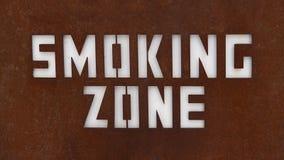 Teken van het roken streek Sluit omhoog van aangewezen rokend gebiedsteken Voor vrede van mening om de rokers van non-smoking te  royalty-vrije stock fotografie