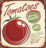 Teken van het tomaten het uitstekende metaal Royalty-vrije Stock Afbeelding
