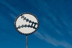 Teken van honkbalzwaard Royalty-vrije Stock Foto