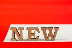 Teken van houten brieven nieuw jaar Royalty-vrije Stock Fotografie