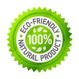 Teken van milieuvriendelijk product. Vector. Stock Afbeeldingen