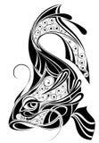 Teken van ontwerp Pisces.Tattoo Stock Fotografie