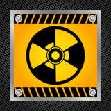 Teken van radioactiviteit Stock Foto