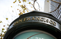 Teken van San Francisco stock foto's