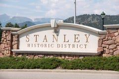 Teken van Stanley Hotel Stock Fotografie