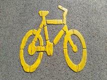 Teken van steeg voor fiets Royalty-vrije Stock Foto's