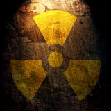 Teken van straling Stock Afbeelding