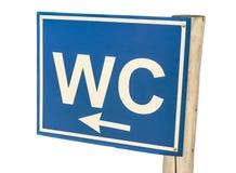 Teken van Toiletwc op wit wordt geïsoleerd dat royalty-vrije stock foto