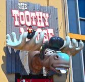 Teken van Toothy Amerikaanse elanden Stock Fotografie