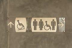 Teken voor badkamerss Stock Fotografie