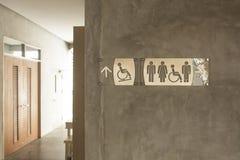 Teken voor badkamerss Stock Foto's
