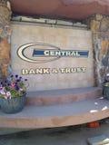 Teken voor Centrale Bank & Vertrouwen stock foto's