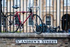 Teken voor de straat van Cambridge St Andrews, Engeland, het UK Stock Afbeelding