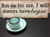 Teken voor een koffiebar stock afbeeldingen