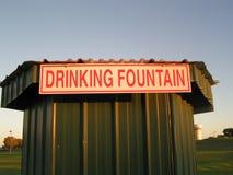 Teken voor het Drinken van Fontein Stock Afbeelding