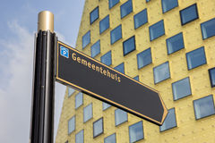 Teken voor het stadhuis van Hardenberg Stock Foto's