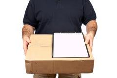 Teken voor levering Stock Foto's