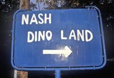 Teken voor Nash Dino Land, Zuiden Hadley, Massachusetts royalty-vrije stock foto's