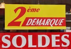 Teken voor officiële de winterverkoop in Frankrijk Royalty-vrije Stock Afbeeldingen
