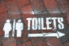 Teken voor toiletten royalty-vrije stock afbeelding