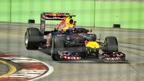 Teken Webber bij 2011 Singapore F1 Royalty-vrije Stock Fotografie