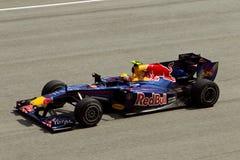 Teken Webber bij Maleise formule 1 ras Stock Fotografie