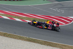 Teken Webber die (AUS) Red Bull RB8 rent op spoor Stock Foto
