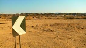 Teken in woestijn royalty-vrije stock fotografie