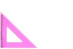 Tekendriehoek - vrij in roze Royalty-vrije Stock Afbeelding
