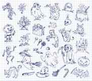 Tekening uit de vrije hand Halloween Royalty-vrije Stock Afbeelding