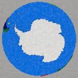 Tekening van Antarctica ter wereld Stock Afbeeldingen