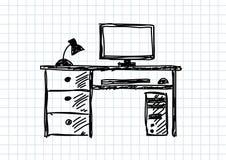 Tekening van computer vector illustratie