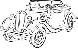 Tekening van de auto Stock Fotografie