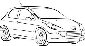 Tekening van de auto, vector Royalty-vrije Stock Foto